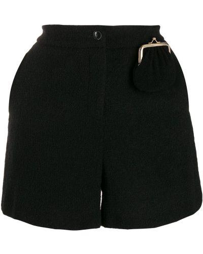 Однобортные черные короткие шорты Boutique Moschino