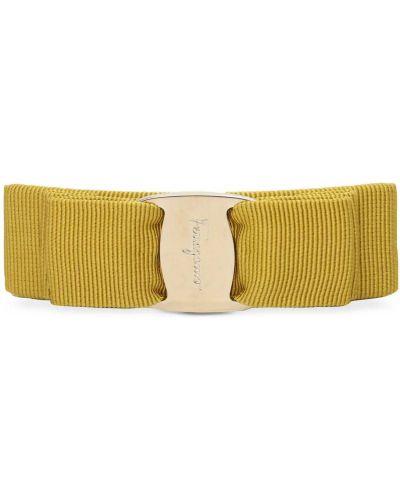 Bawełna żółty bawełna spinka do włosów Salvatore Ferragamo