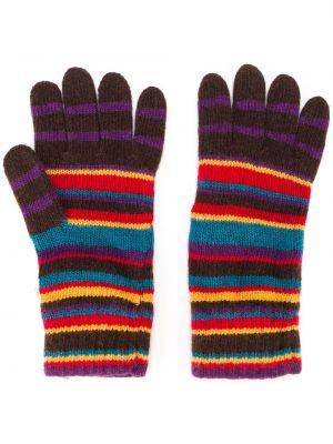 Rękawiczki wełniane w paski Paul Smith