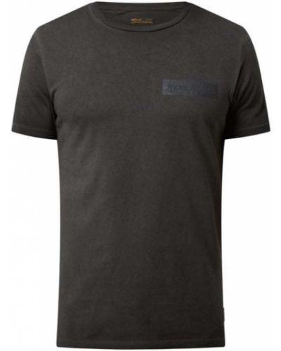 Czarna koszulka z printem Replay