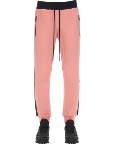 Różowe prążkowane spodnie Dim Mak Collection