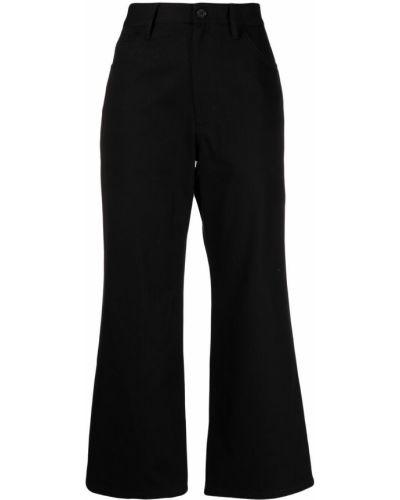 Klasyczne czarne jeansy bootcut z wysokim stanem Jil Sander