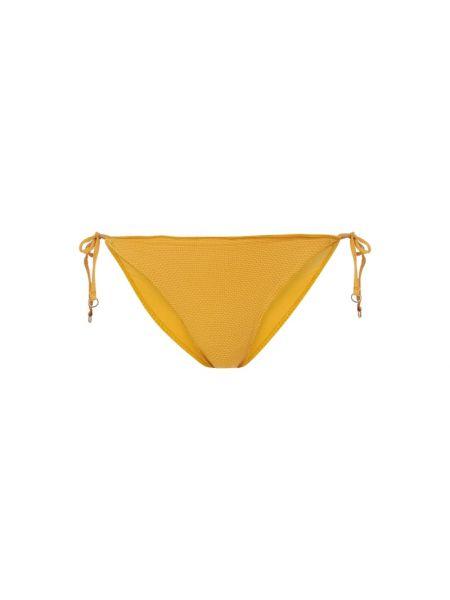 Nylon żółty bikini z falbankami elastyczny Seafolly
