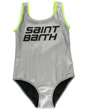 Strój kąpielowy z logo na szyi Mc2 Saint Barth Kids