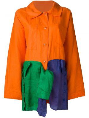 Длинное пальто с капюшоном с воротником свободного кроя Jc De Castelbajac Pre-owned