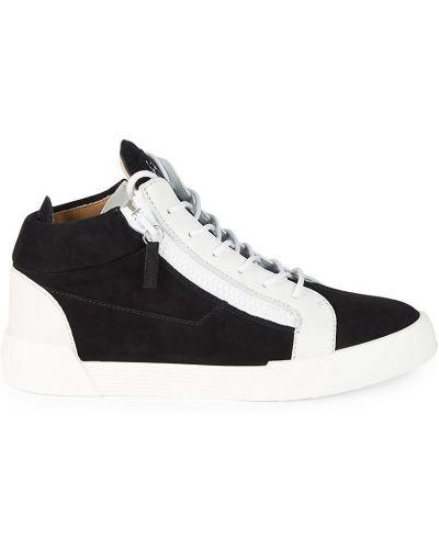 Sneakersy wysokie - białe Giuseppe Zanotti