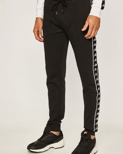 Прямые черные прямые брюки с поясом новогодние Kappa