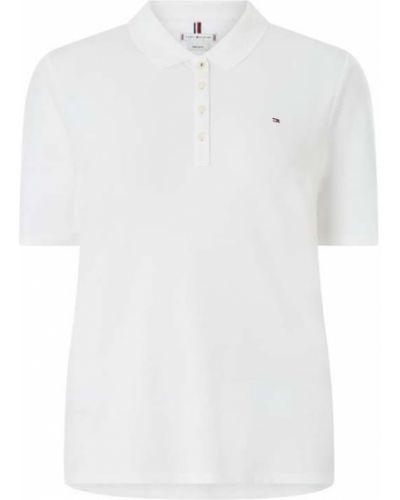 Biały t-shirt bawełniany Tommy Hilfiger Curve