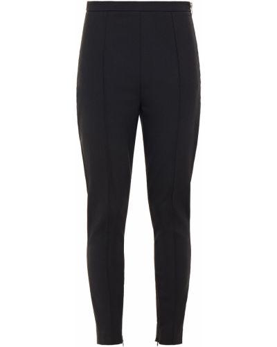 Czarne spodnie rurki wełniane Alexander Wang