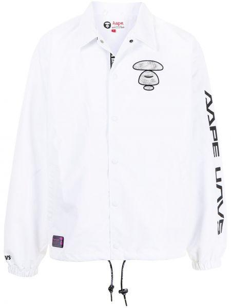 Белая классическая рубашка с воротником на кнопках Aape By A Bathing Ape
