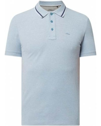 T-shirt bawełniana - turkusowa S.oliver Red Label