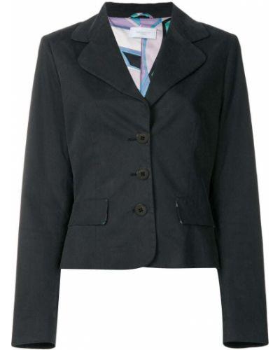 Черный пиджак винтажный Emilio Pucci Pre-owned