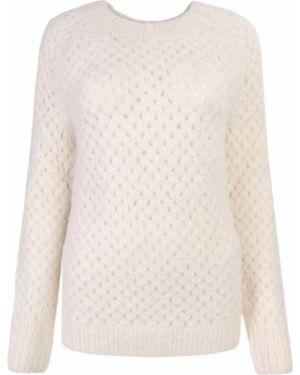 Бежевый шерстяной свитер на резинке с круглым вырезом Vanessa Bruno