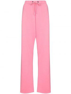 Спортивные брюки из полиэстера - розовые Natasha Zinko