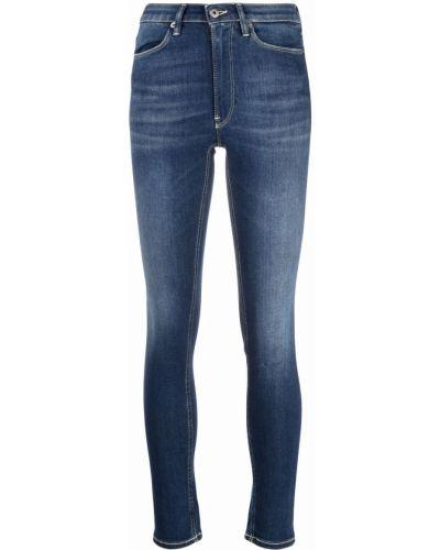 Синие джинсы с нашивками Dondup