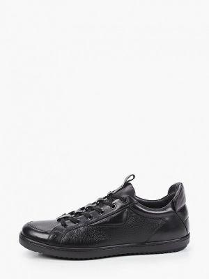 Черные кожаные низкие кеды Roberto Piraloff