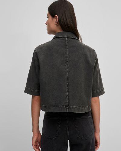 Черная джинсовая куртка с воротником-стойка Marc O'polo Denim