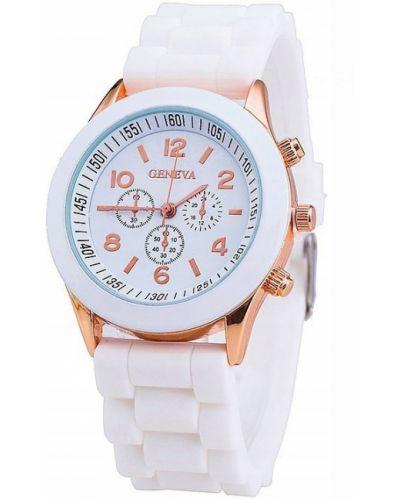 Biały zegarek sportowy Geneva