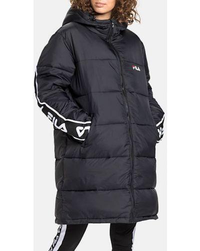 Утепленная черная куртка Fila