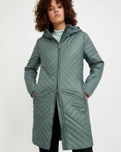 Зеленое теплое пальто Finn Flare