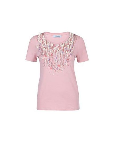 Розовая футболка Blumarine