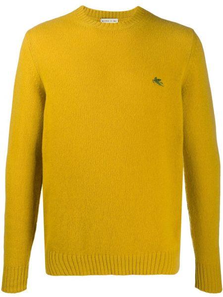 С рукавами желтый пуловер с вышивкой Etro