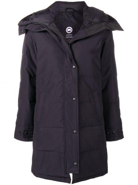 Пальто с капюшоном - синее Canada Goose