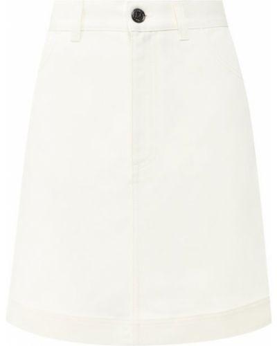 Джинсовая юбка трапеция эластичная Fendi