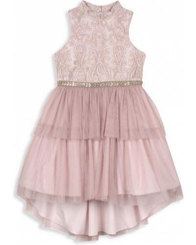 Свободное платье с пайетками из фатина Badgley Mischka