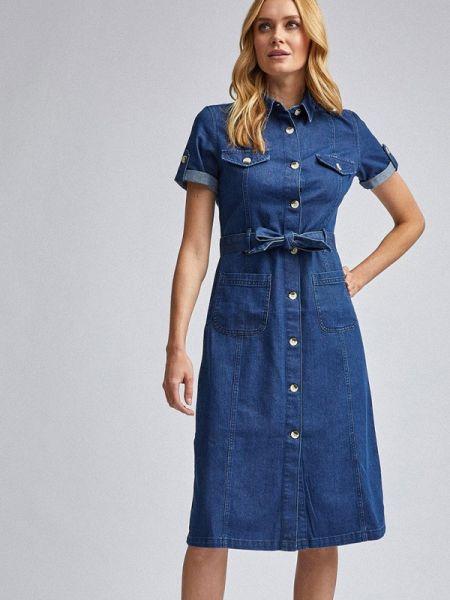 Джинсовое платье синее весеннее Dorothy Perkins