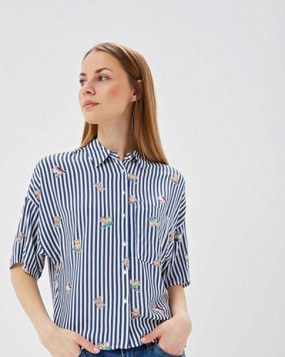 Рубашка с коротким рукавом синяя Sela