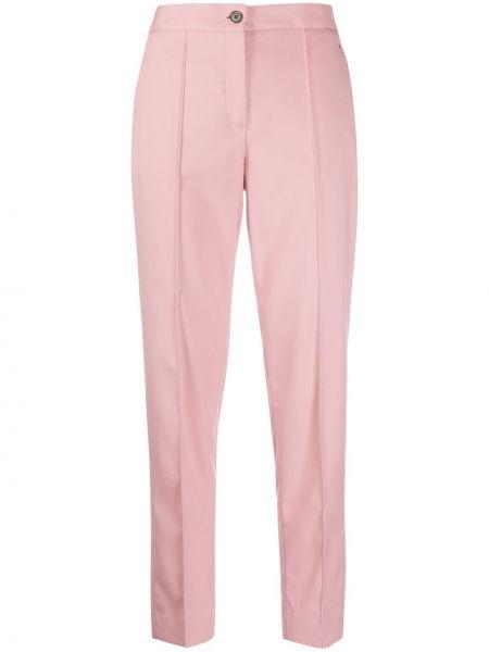 Розовые брюки со складками с воротником на пуговицах Calvin Klein
