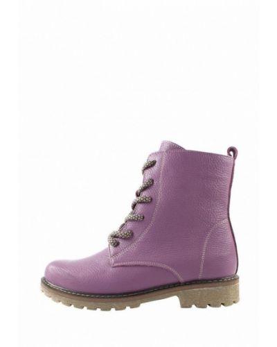 Фиолетовые пинетки из натуральной кожи на торжество Holiday Shoes