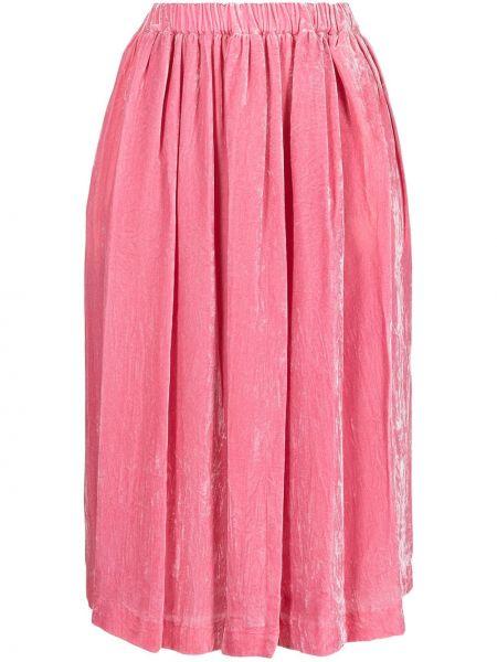 Юбка миди с завышенной талией - розовая Comme Des Garçons Comme Des Garçons