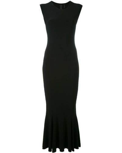 Платье миди с вырезом расклешенное Norma Kamali
