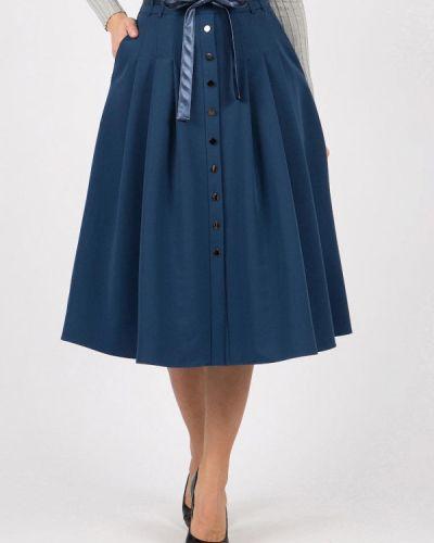 Юбка широкая синяя Olivegrey