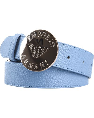 Голубой ремень Emporio Armani