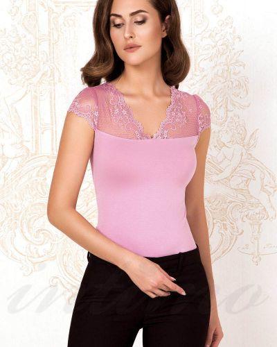 Черная блузка с V-образным вырезом Anabel Arto