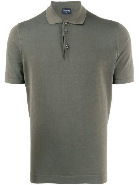 Koszula krótkie z krótkim rękawem klasyczna wojskowy Drumohr