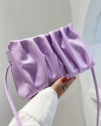 Плиссированная фиолетовая сумка через плечо Zaful