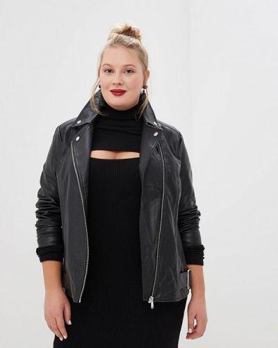 Кожаная куртка - черная Lost Ink Plus