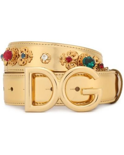 Ремень металлический кожаный Dolce & Gabbana