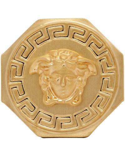 Кольцо с узором - золотое Versace