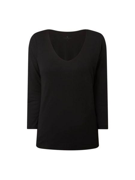 Czarna bluzka bawełniana Tom Tailor