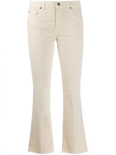 Расклешенные джинсы с бахромой белые Fay