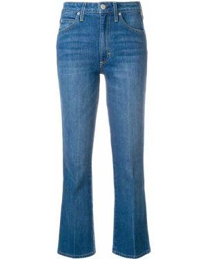 Укороченные джинсы расклешенные синие Amo