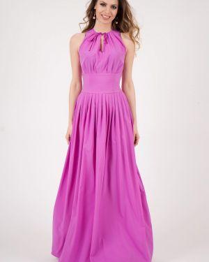 Платье макси фиолетовый оливковый Olivegrey