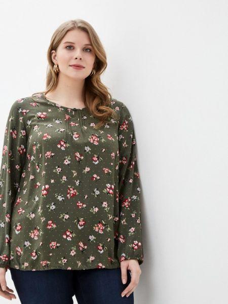 Блузка с длинным рукавом зеленый весенний Ulla Popken