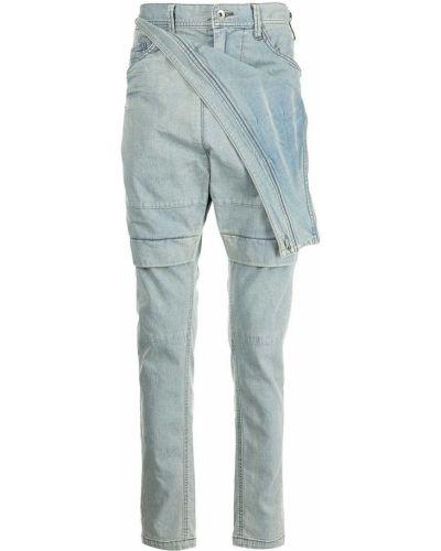 Niebieskie jeansy z paskiem Julius
