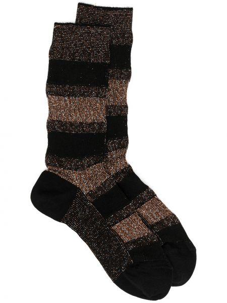 Хлопковые черные носки с вышивкой Missoni